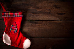Empty Christmas sock Royalty Free Stock Images