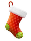 Empty christmas stocking isolated on white background Royalty Free Stock Photo