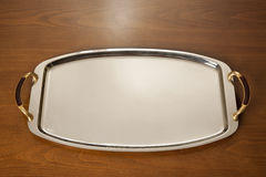 Empty Chrome Tray Royalty Free Stock Photos