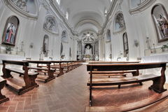 Empty church interior Royalty Free Stock Photo