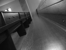 Empty Church Pew Royalty Free Stock Photography
