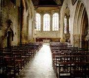 Empty church with stools Stock Photography