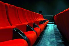 Empty cinema Stock Image
