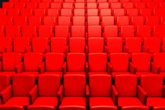 Empty cinema auditorium Royalty Free Stock Image