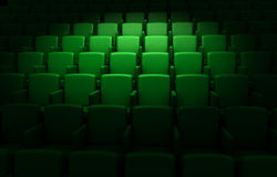Empty cinema auditorium Royalty Free Stock Photo