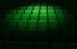 Empty cinema auditorium stock illustration