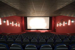 Empty cinema auditorium Stock Photography