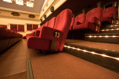 Empty cinema auditorium Royalty Free Stock Photography