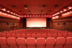 Empty cinema auditorium Stock Photos