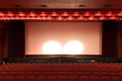 Empty cinema auditorium Stock Photo