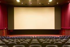 Empty cinema auditorium Royalty Free Stock Photography