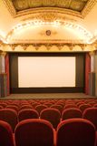 Empty cinema auditorium. With chairs Stock Photo