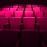Empty cinema auditorium. Empty darl pink cinema auditorium royalty free illustration