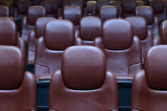 Empty Cinema Chairs Royalty Free Stock Images
