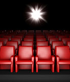 Empty cinema hall with auditorium Stock Photography