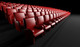 Empty cinema hall with auditorium. 3d empty cinema hall with auditorium Royalty Free Stock Photography
