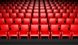 Empty cinema hall with auditorium Royalty Free Stock Images