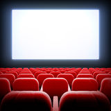 Empty cinema hall. Stock Photo