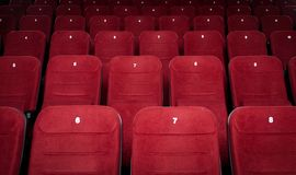 Empty cinema hall seats Stock Images