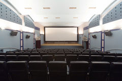 Empty cinema hall Stock Photos