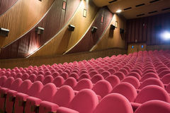 Empty cinema interior Royalty Free Stock Image