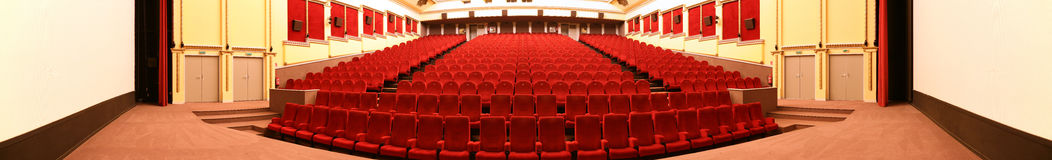 Empty cinema panorama Royalty Free Stock Images