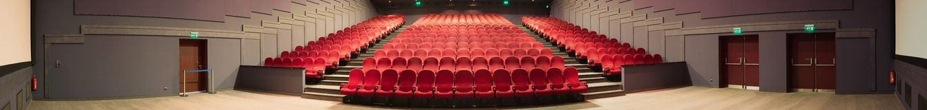 Empty cinema panorama photo stock photos