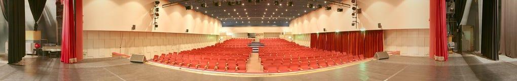 Empty cinema, panorama photo Stock Photos