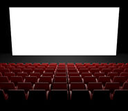 Empty cinema screen with auditorium Stock Image