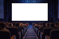 Free Empty Cinema Screen With Audience. Stock Image - 30517931