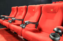 Empty cinema seats Stock Images