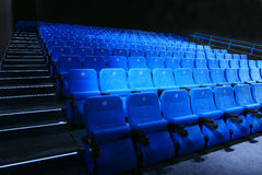 Empty cinema seats Royalty Free Stock Images