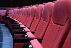 Empty cinema seats Stock Photos