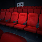 Empty cinema or theater auditorium Royalty Free Stock Images