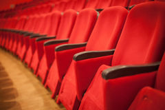 Empty cinema or theater seats Stock Image