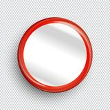 Empty circle banner or button on transparent background. Royalty Free Stock Photo