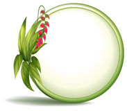 An empty circle border with elongated leaves vector illustration