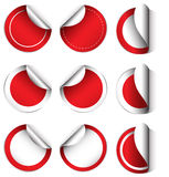 Empty circle templates Stock Image