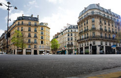Empty city landscape. Paris. France royalty free stock image
