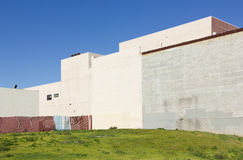 Empty City Lot. Sits up against some building walls Stock Images
