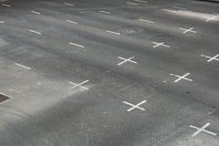 Empty city road. In Bangkok Stock Photos