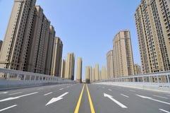 The empty city road Royalty Free Stock Photos
