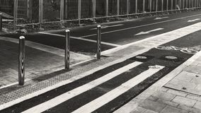 Empty city road with grey scale effect Royalty Free Stock Image