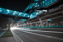 City road surface floor with viaduct bridge Royalty Free Stock Photos