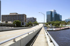 Empty city street, Jacksonville, Florida Stock Image