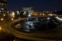 Empty City Traffic Ramp At Night Royalty Free Stock Images