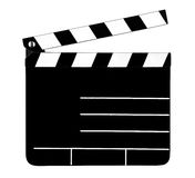 Empty clapperboard Royalty Free Stock Photo