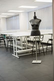 Empty class room with a model Royalty Free Stock Photography