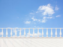 Empty classic terrace Stock Images