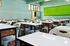 Empty classroom. An empty schoolroom in secondary school, Thailand Stock Photography